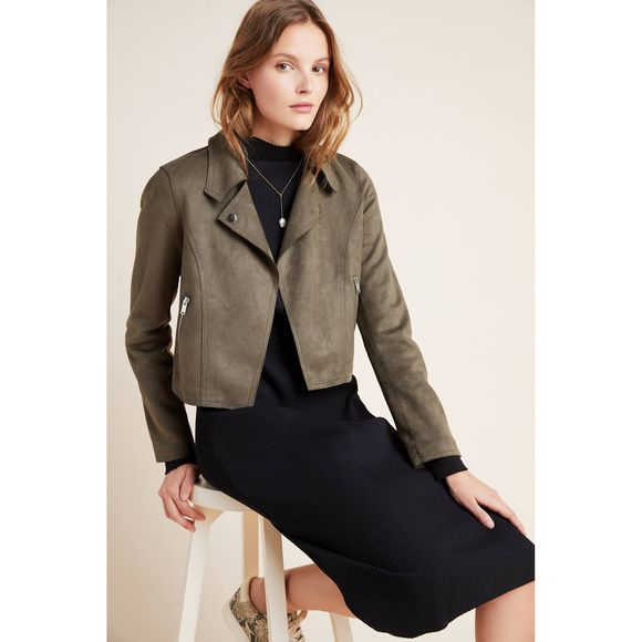 Anthropologie Jackets & Blazers - New Anthropologie Kelyn Sueded Moto Jacket